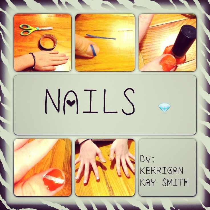 Easy way to do cute nails