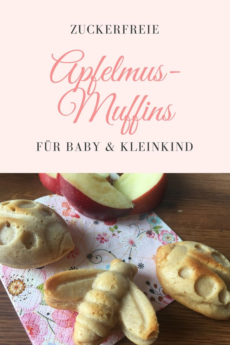 Kleine Apfelmuffins mit Zimt   – Backen ohne Zucker