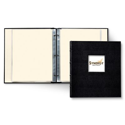 "Leather Presentation Binder 3/4"" (with window) - Gallery Leather"