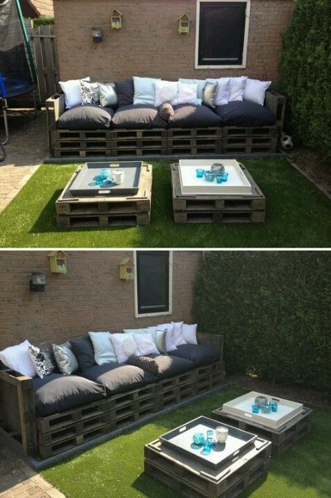 Pallets - outdoor seating