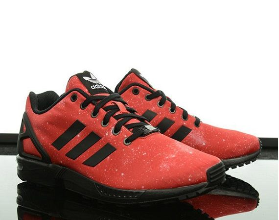 the best attitude d12ee d7c34 reduced adidas originals zx flux red galaxy 25b89 71921