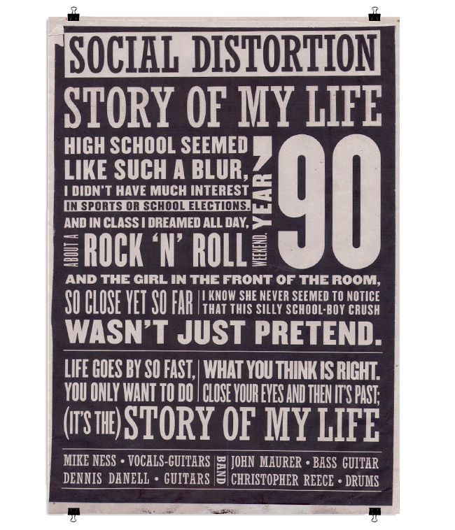 Social Distortion. Story Of My Life.