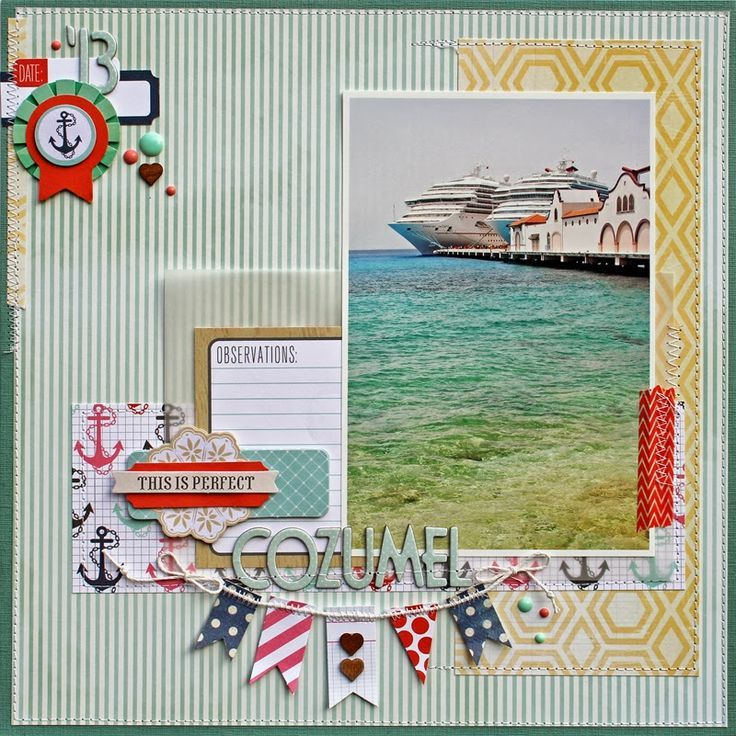 Image result for cruise scrapbook paper
