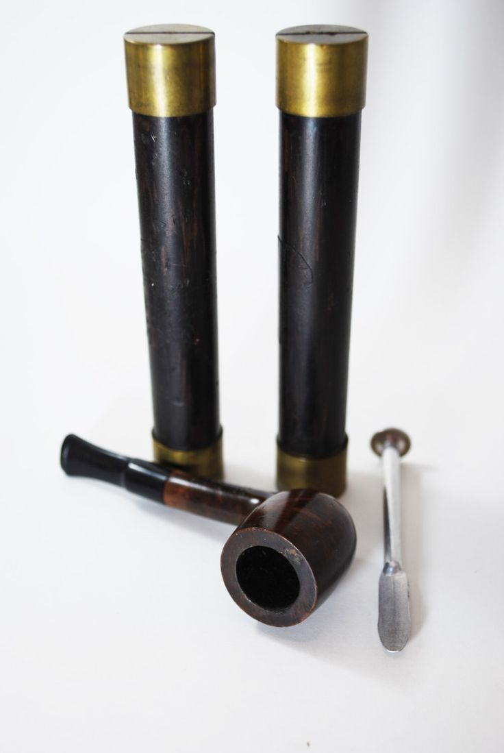 Vintage estate pipe dr grabow golden duke filtered pipe imported briar - Tom Thome Tobacco Pipe Set Imported Form Italy With Tamper And Tobacco Storage Wooden Pipe