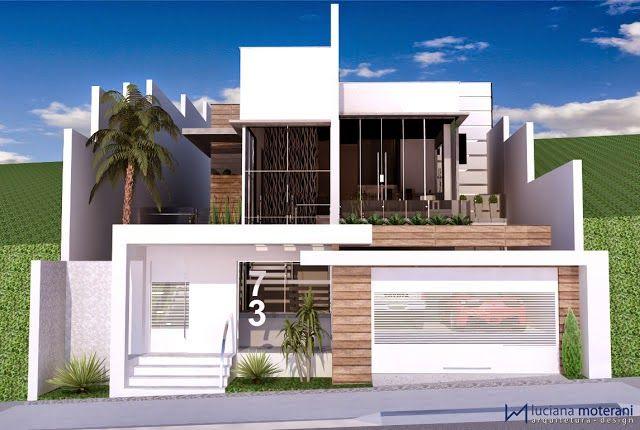 Top 10 fachadas de casas modernas com paisagismo e muros for Casa e ideas