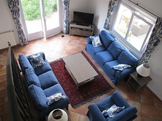 Valbonne villa rental - View of the sitting room from the mezzanine