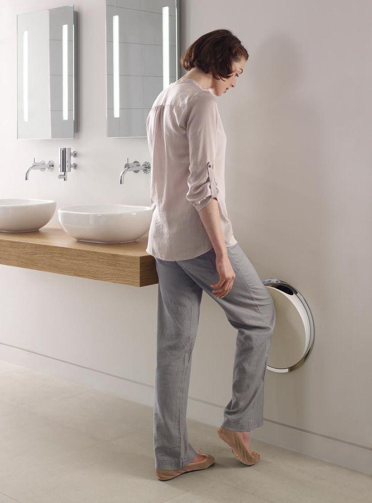 Bathroom trash can / built-in / chrome / brass RS1 VOLA