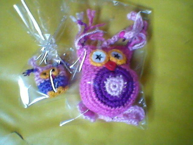 Prendedor Lechuza al crochet Colgante para puerta o ventana lechuza al crochet.