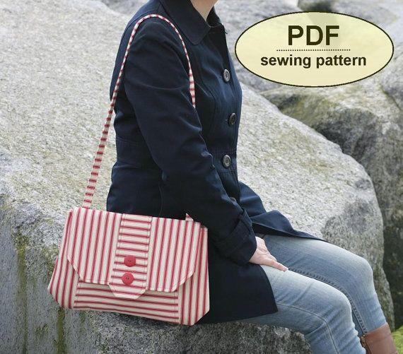 Nuevo: Patrón de costura para hacer el bolso de embrague Chattisham - patrón PDF descarga instantánea