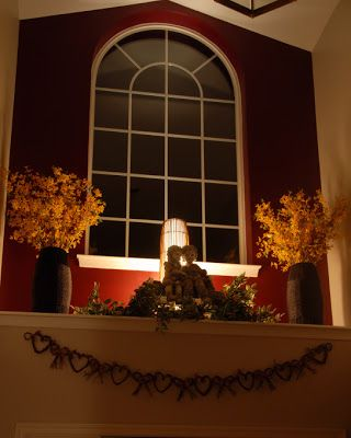 decorating a hall entry ledge