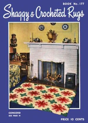 Shaggy & Crocheted Rugs Vintage Patterns Book for download