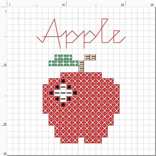 Small Cross Stitch Patterns Free | Freebie Friday - Mini Apple Cross Stitch Pattern