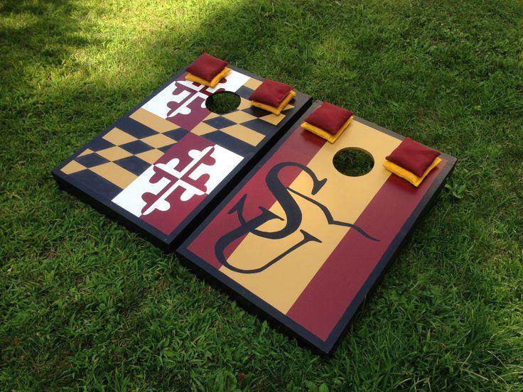 Salisbury University and MD flag Tailgate Size set by BMore Corny