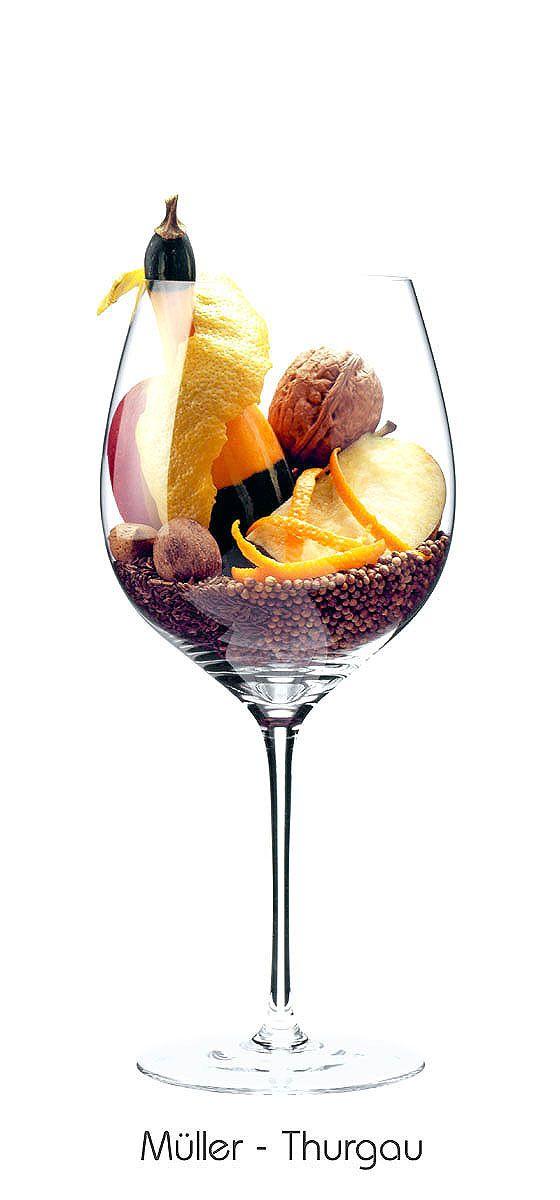 MÜLLER-THURGAU  Apple, walnut, lemon (peel), orange (peel), almond, pumpkin, caraway, coriander