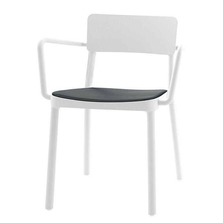 Armlehnenstuhl Lisboa (4er Set)   Kunststoff Weiß/ Kunstleder Schwarz,  Viggo Jetzt Bestellen Unter: ...