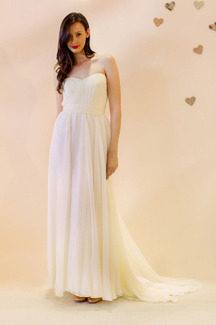 14 best wedding dresses images on pinterest wedding dressses ivy and aster spring 2013 amelie chiffon gown with vertical pleated bodice ombrellifo Gallery