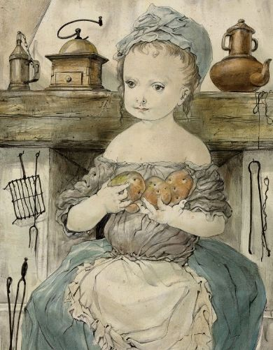Young Girl With Potatoes, 1952 Tsuguharu Foujita