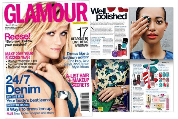 NSI nurture oil in Glamour's March edition.