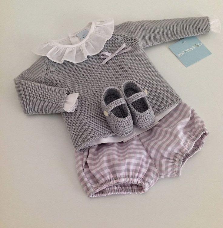 Polainas Bebé Boutique Infantil, Gray and Pink for baby girl
