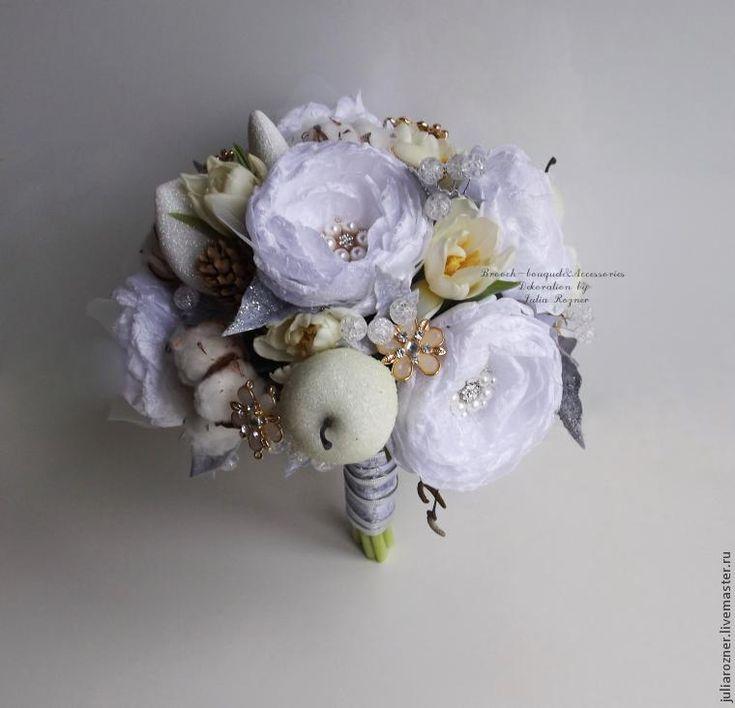 Мастерим зимний свадебный букет - Ярмарка Мастеров - ручная работа, handmade