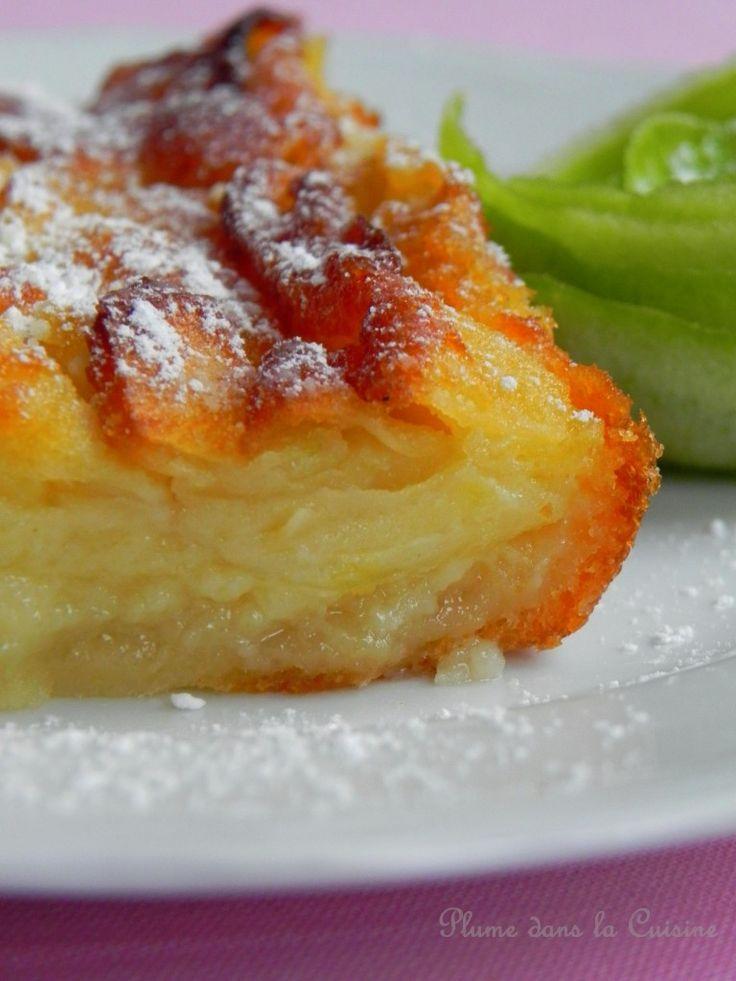 Gâteau fondant aux pommes...