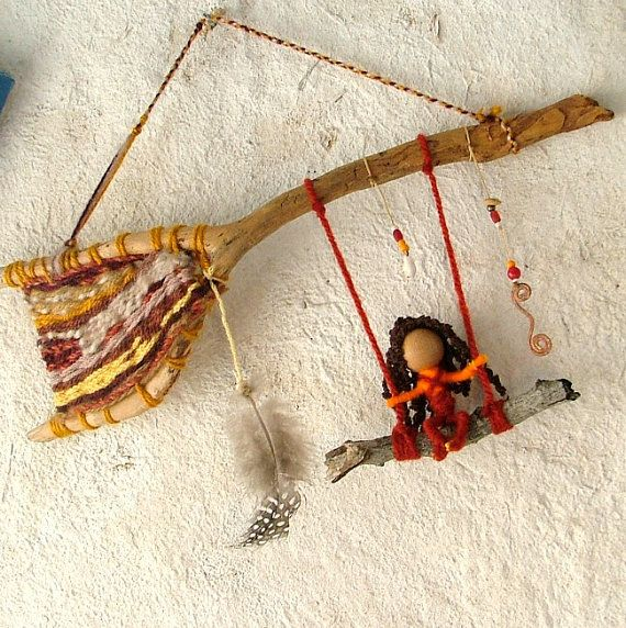 Dreamtime fairy  OOAK natural baby mobile by MammaEarthCreations