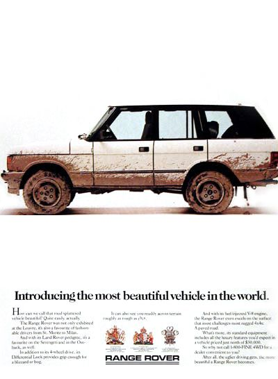 Classic Range Rover Ad.
