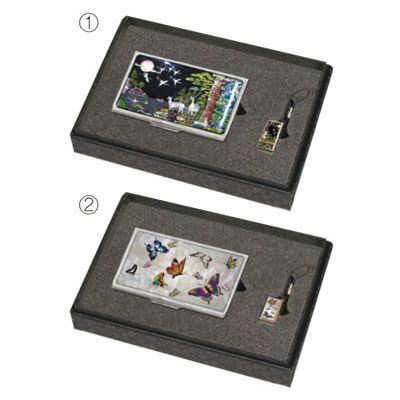명함케이스+USB  MOTHER OF PEARL CARD CASE+ USB SET