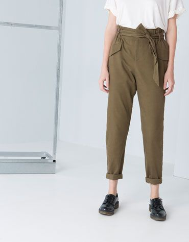 Khaki rules - #highwaist #knotted #trousers