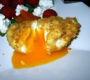 Frittierte, pochierte Eier - Rezept