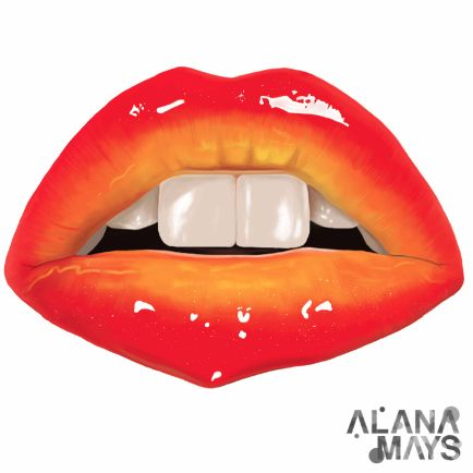 Lips, illustrated by Alana mays. https://www.facebook.com/AlanaRoseMays https://www.behance.net/Alana_Rose_Mays http://www.alanamays.com