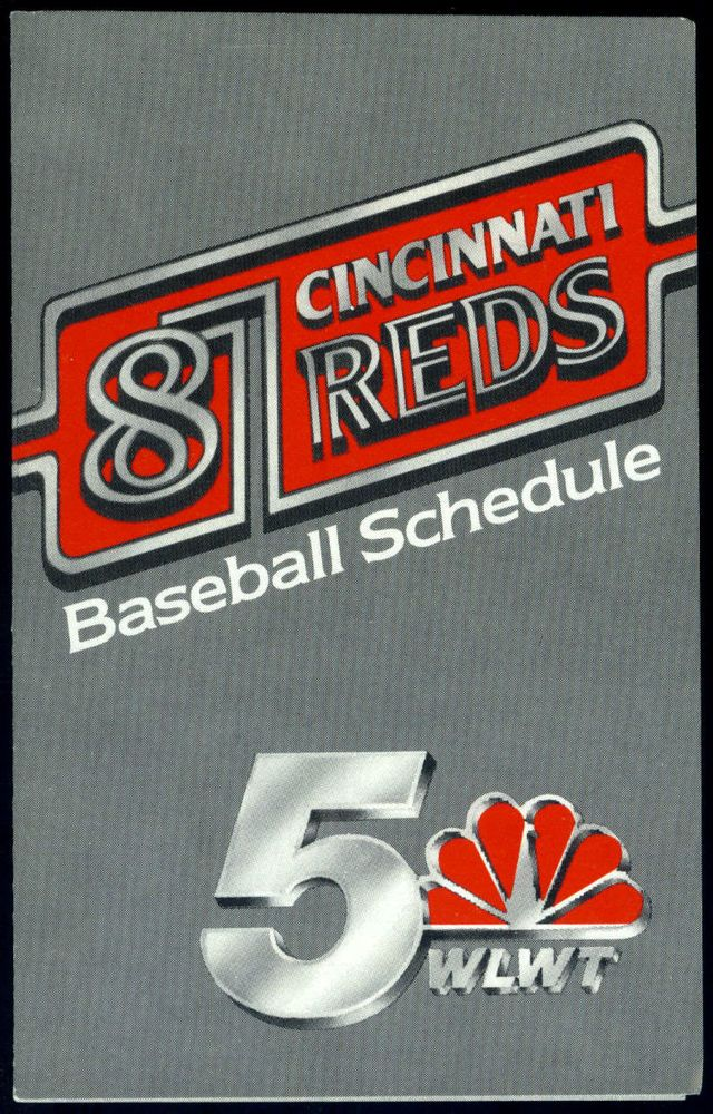 1987 CINCINNATI REDS BUDWEISER BEER BASEBALL POCKET SCHEDULE EX+NM FREE SHIPPING #Schedule