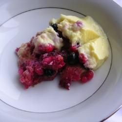 Redcurrant and blueberry trifle with lemon custard @ allrecipes.co.uk