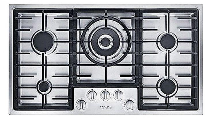 Miele 90cm 5 Burner Low Profile Natural Gas Cooktop - Stainless Steel - Appliances - Kitchen Appliances   Harvey Norman Australia