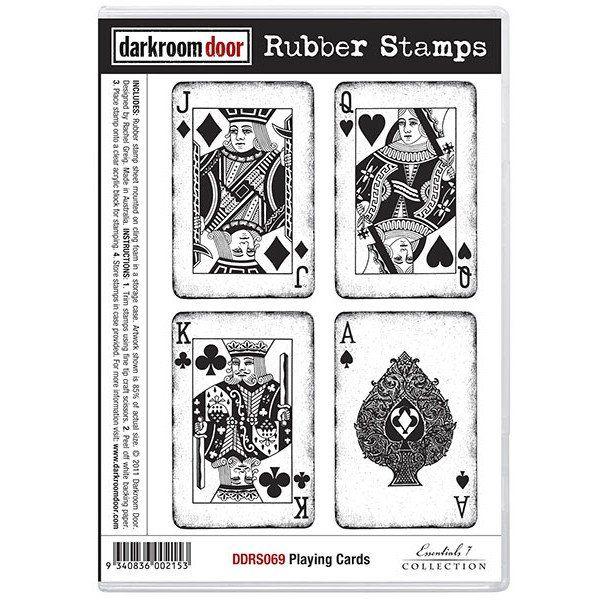 Rubber Stamp Set - Playing Cards - Darkroom Door