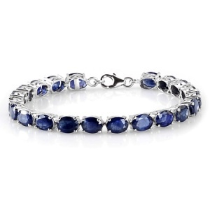 Kanchanaburi Blue Sapphire Tennis Bracelet