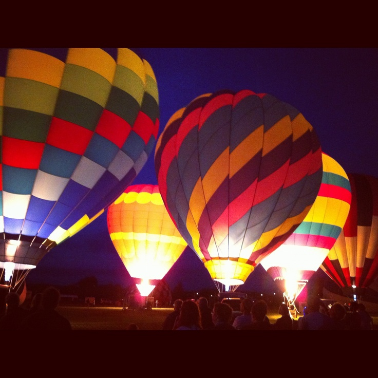 Hot air balloon festival in Sussex, NB