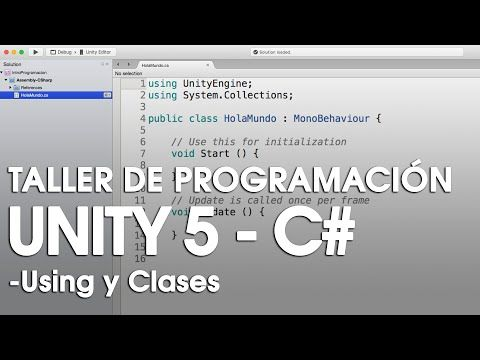 """Curso Programación con C# y Unity 5 desde Cero - Aplicación """"Hola Mundo""""…"""