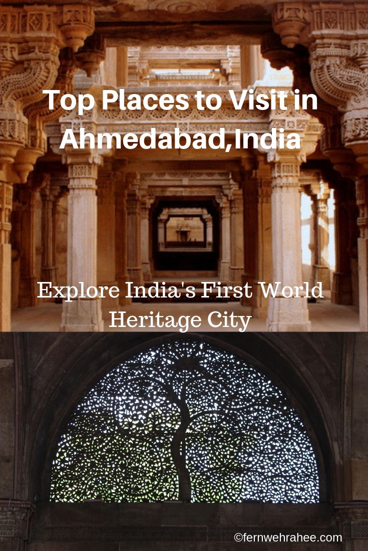 Ahmedabad is UNESCO World heritage city and here is my complete guide to explore Ahmedabad in two days #ahmedabad #adalajstepwell #heritagewalkahmedabad #ahmedabadtravel #indiatravel #indiaplaces