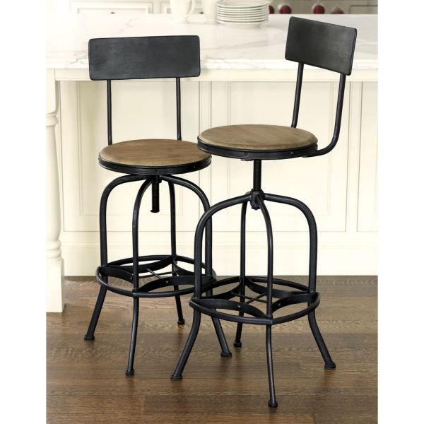 Allen Stool with Back Rest  sc 1 st  Pinterest & 30 best Bar stools images on Pinterest | Industrial metal Metal ... islam-shia.org
