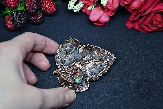 Brooch Magic leaf