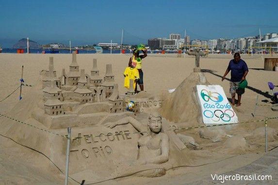 Arte con arena - Copacabana
