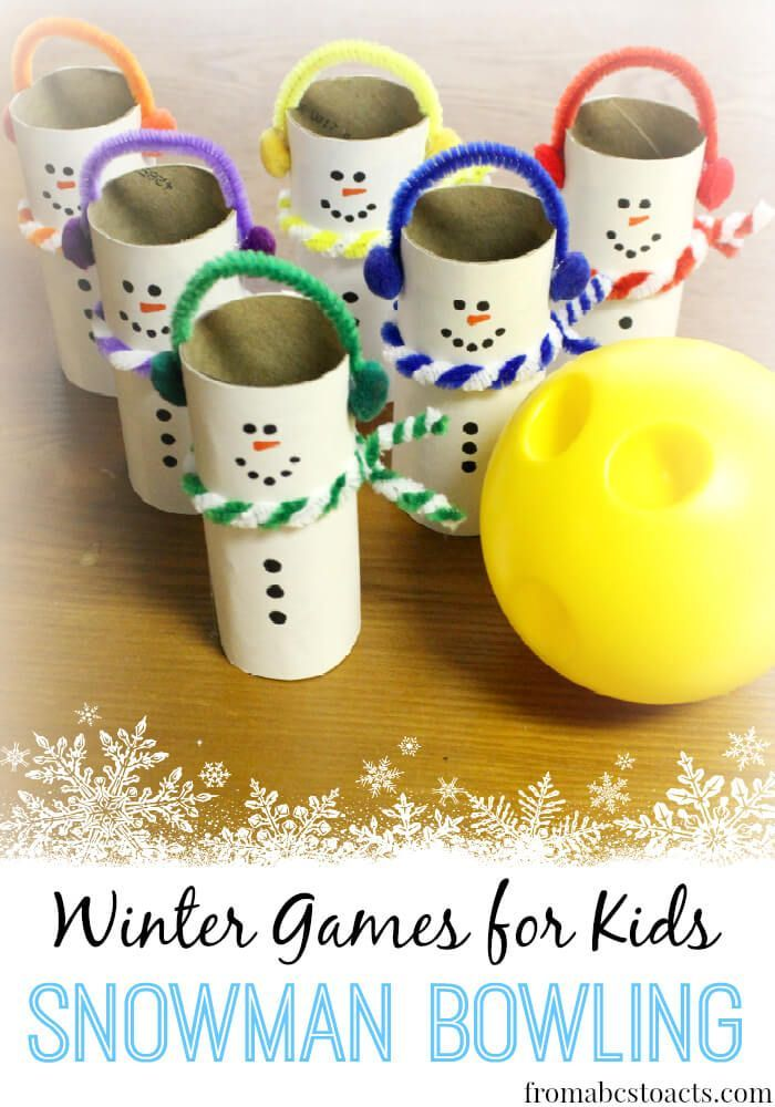 Winter Games for Kids: Snowman Bowling - From ABCs to ACTs