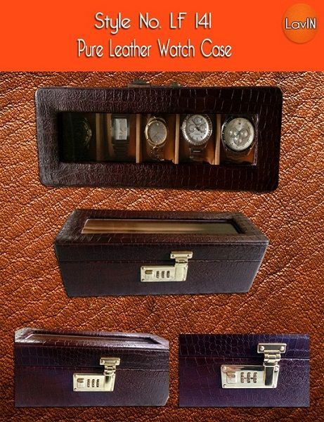 Durga Pooja Special!!!  Pure Leather Watch Case from The House of #LavIN. Limited Stock Available!!!  We can do customized packing and gift delivery to any location in India.  For queries write on lavinfashionworld@gmail.com or Call on +91-7044623711