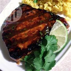 Sweet 'n' sticky tuna steaks
