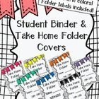 Student binders and take home folders help keep you and your students organized! This set includes one student binder cover and one take home folde...