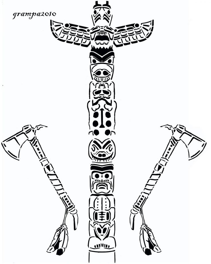 79 Totem Pole Coloring Pages