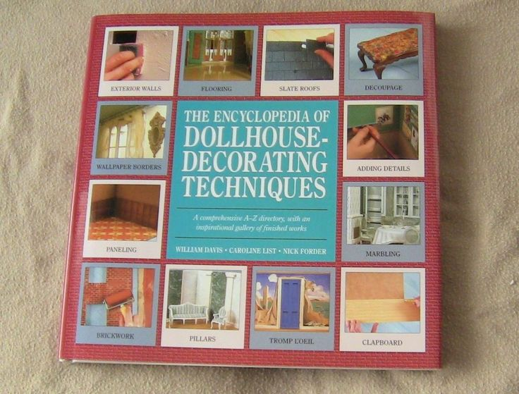 Dollhouse Decorating Techniques Miniatures Non Fiction Book Projects Arts Crafts | eBay