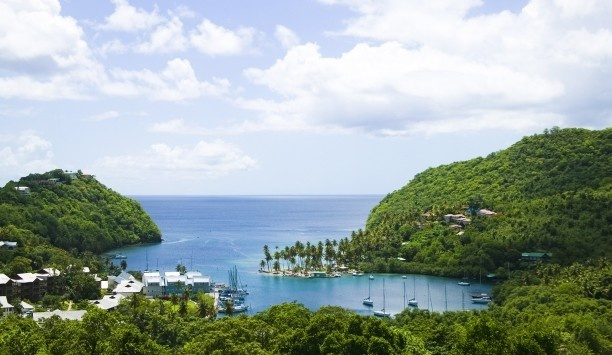 Discovery at Marigot Bay The resort is tucked away on the scenic west coast of St. Lucia.