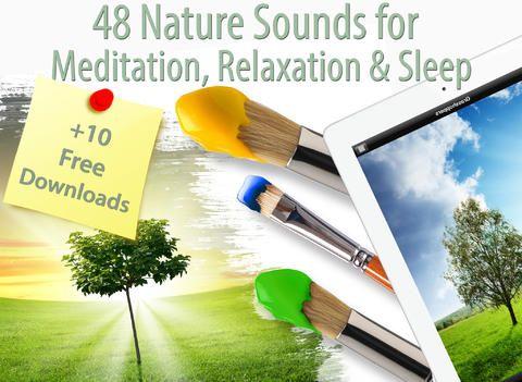En app att älska - lyssna för lugn, harmoni, stillhet. Appen kan ligga på med ljudet i bakgrunden medan du arbetar i en annan app.